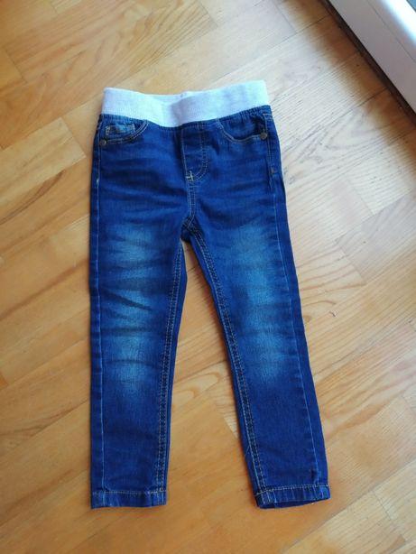 Dżinsy spodnie rurki rozm.98