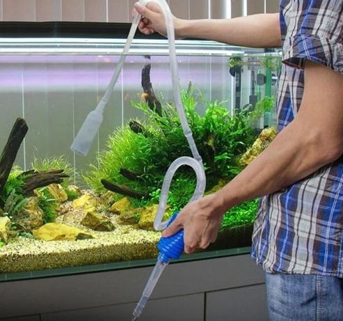 Сифон + ПОДАРОК!  сифон для чистки аквариума