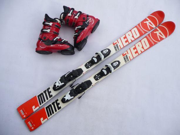 Komplet narciarski - narty Rossignol 130 cm + buty 38 eu