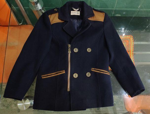 Пальто мальчик, осеннее, кашемир, 122 см, Luxik