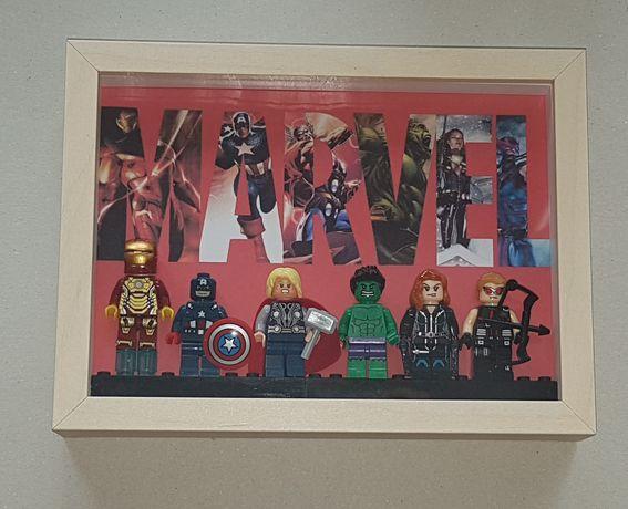 Quadro figuras Marvel Avengers