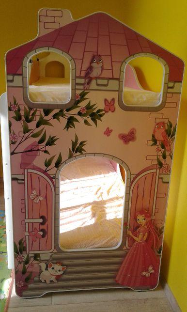Łóżko piętrowe dziecięce, młodzieżowe, dla dziewczynek 184x86x156 cm