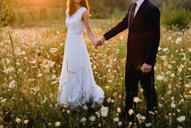 Suknia ślubna, rozmiar 34/36, na wzrost 170 cm