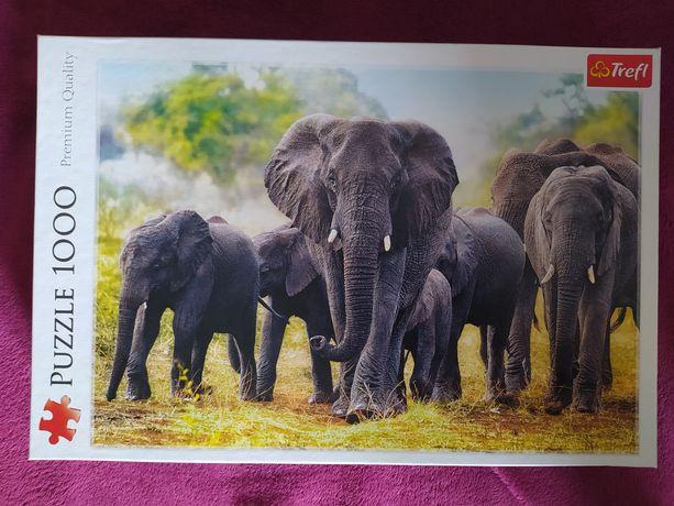 Puzzle 1000 Trefl Afrykańskie słonie