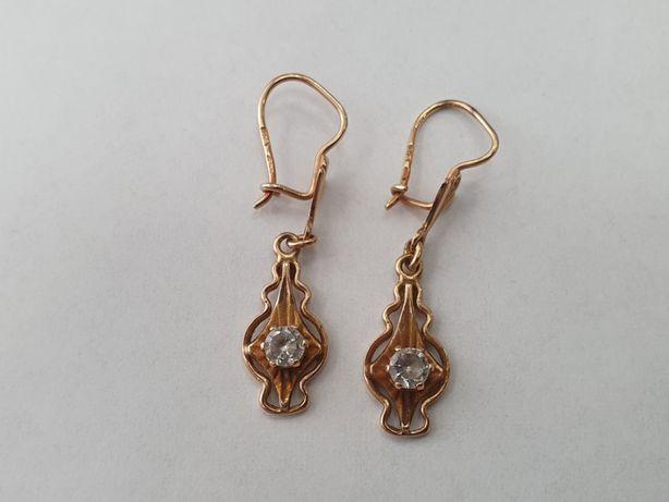 Piękne złote kolczyki damskie/ 585/ Retro/ 3 gram/ Wiszące/ sklep Gdyn