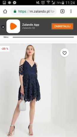 Sprzedam śliczną koronkową sukienkę