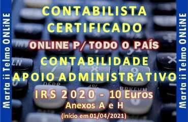 IRS 2020 10€ / Contabilista Certificado / Contabilidade / Preço justo