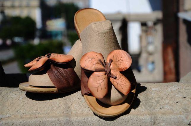 Кожаные шлёпанцы Bueno.Турция