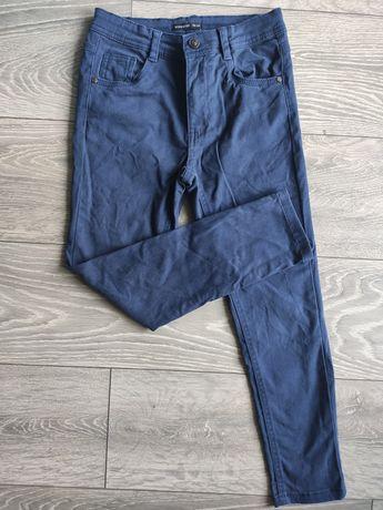 Spodnie bawełniane chłopięce 128 eleganckie
