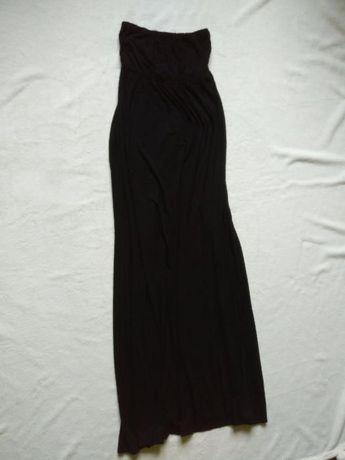 Heaven Sent Czarna sukienka maxi dress długa elastyczna bez rękawów