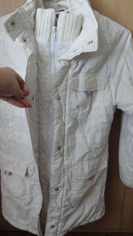 Пальто белое на девочку