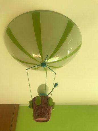Lampa sufitowa do pokoju dziecka, szklana, stan BDB