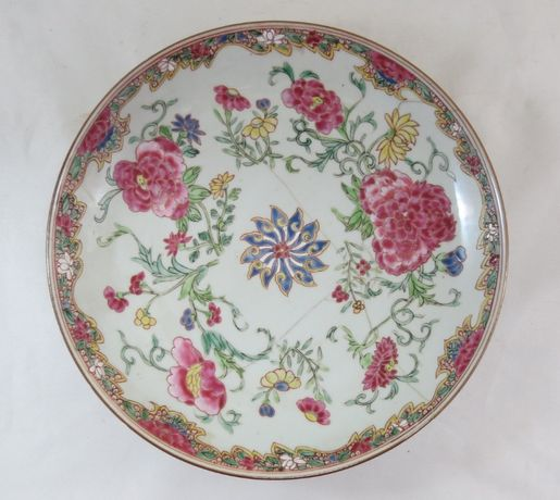 Prato Companhia das Índias Família Rosa Porcelana Chinesa-27cm
