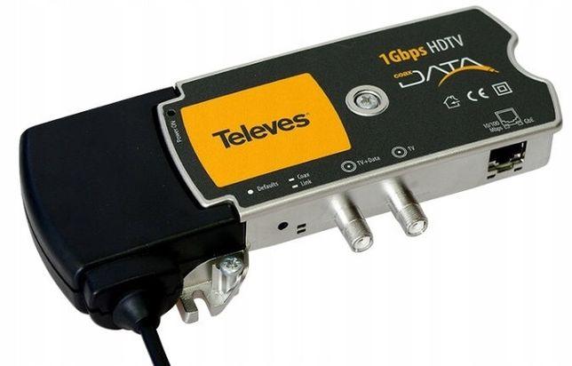 Модем Televes 769203 Ethernet Coaxdata 1Gbps-HDTV коаксиал, 1хETH