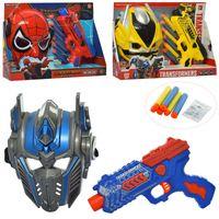 Игровойнабор супергероя 130-E-530-Е, маска, пистолет, мягкие пули