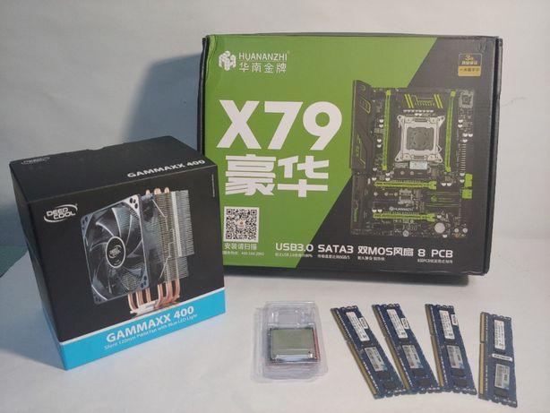 Игровой комплект Huananzhi x79+Xeon E5-1650+16GB RAM+Охлаждение