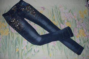 Модные джинсы в камнях размер С - ХС raw philipp plein sassofono