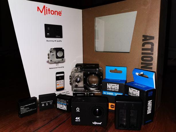 Kamera sportowa Mitone Wifi 4k 30fps 1080p 60 fps 4 baterie ładowarka!