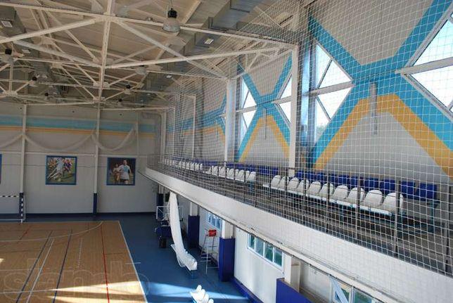 Сетка заградительная капроновая для ограждения спортивных залов