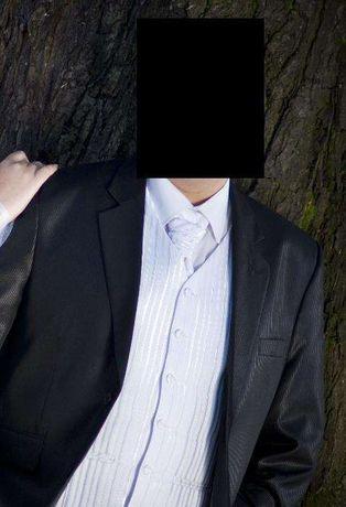 Garnitur ślubny - czarny 176-180 cm, obw. klatki 120-122 cm