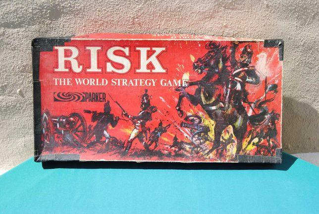 Risk (Risco) jogo de tabuleiro da Parker antigo de 1963 Vintage