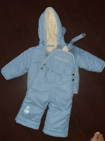 Теплый костюм полукомбез куртка флис 68