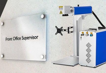 Máquina de gravação Metais | Acrílico | Plásticos Fibra Laser