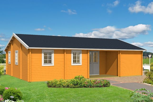 Drewniany dom KRAJENKA 62,7 + 5,4 M2 taras letniskowy, całoroczny