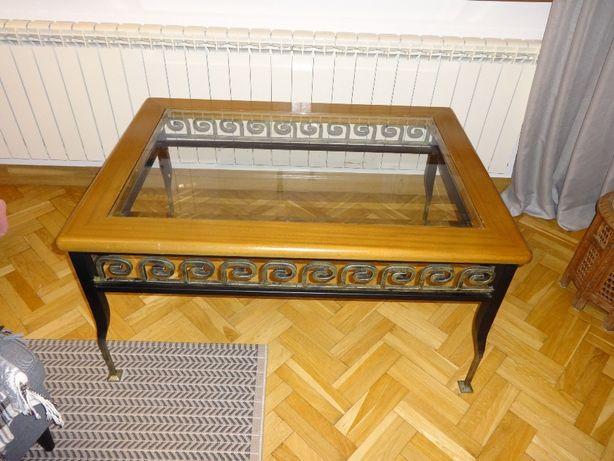 Stół szkło fazowane i metal
