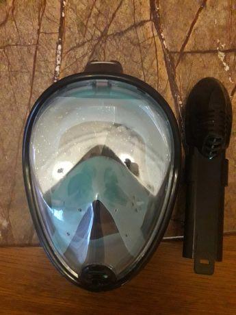 маска повнолицева для плавання снорклінга
