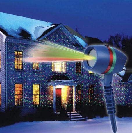 -20% Страбоскоп проектор лазерный новогоднее украшение