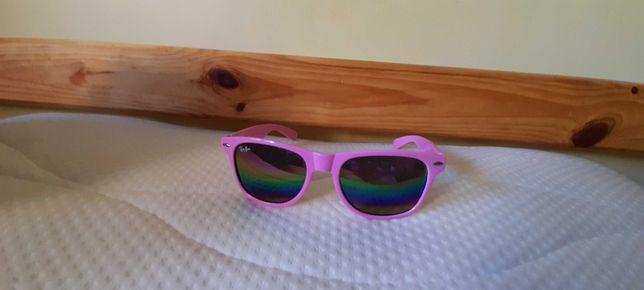 Okulary przeciwsloneczne rozowe Ray Ban