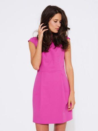 sukienka SIMPLE różowa mini  róż -  XS