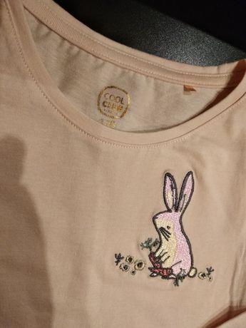 Bluzka różowa NOWA - Cool Club Smyk - bluzeczka z króliczkiem
