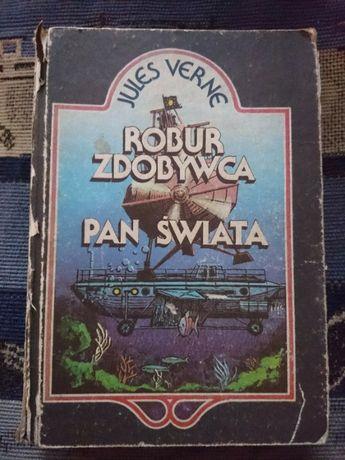 Książka przygodowa Pan Świata Jules Verne, Robur Zdobywca
