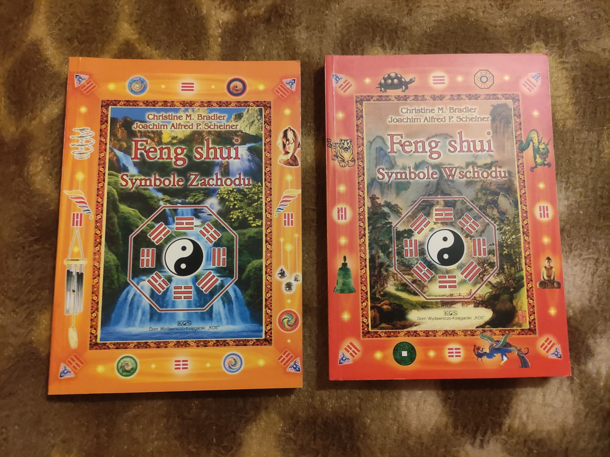 Feng shui symbole wschodu i zachodu, 2 książki Bradler, Scheiner