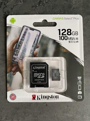 Karta pamięci micro SD Kingston Canvas 128GB Nowa Rejestrator Jazdy