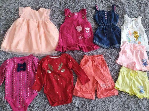 Ubrania dla dziewczynki rozmiar 80