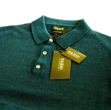 Koszulka polo M merino zielona sweter zielony tom ford farhi ck ralph