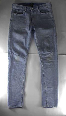 Spodnie H&M Niebieskie Rozm 30 STAN BDB+ !!!