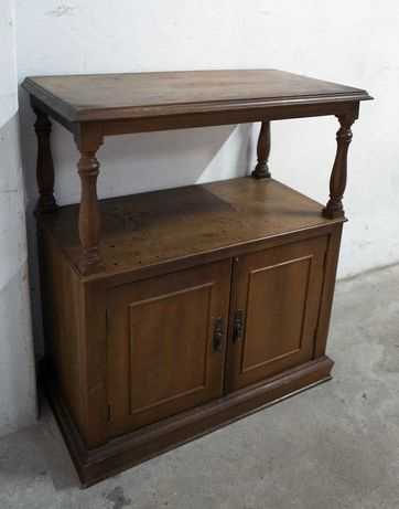 Movel / aparador de Tv 84x73x40cm madeira vintage antiguidade