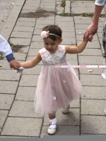 Wesele chrzest urodziny komplet sukienka 86 buciki mayoral 22