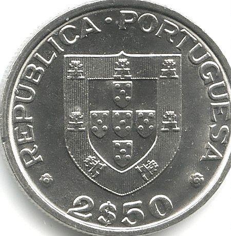 Moedas 2,5 escudos do ano 1963 a 1984