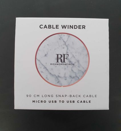 cable winder Richmond & Finch white marble !