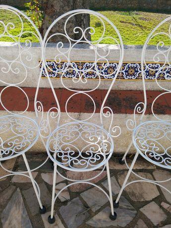 Conjunto 5 cadeiras em ferro