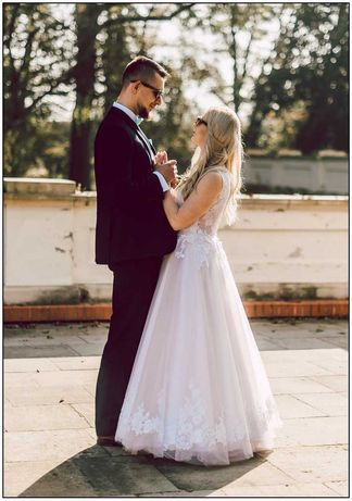 Suknia ślubna pracowni mody ślubnej Afrodyta r. 38