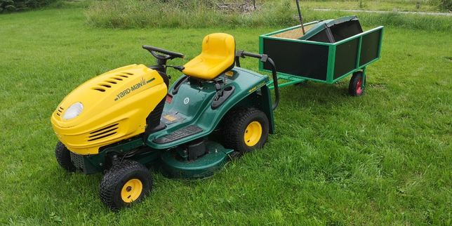 Traktorek kosiarka MTD Yard-Man z przyczepką