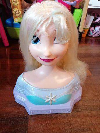 Cabeça Elsa para pentear