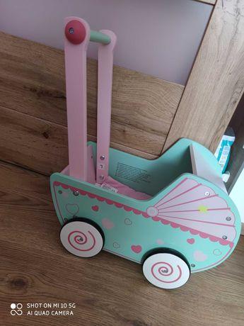 Wózek drewniany dla dziewczynki