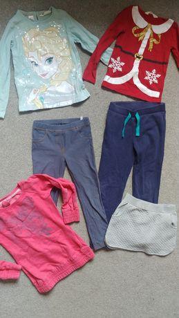 110-116 ubranka bluzka spodnie getry